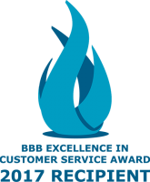 BBB Excellence in Customer Service 2017 Logo